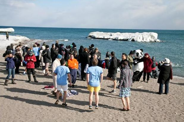 "The WWF ""Polar Plunge"". ©WWF-CANADA"